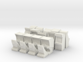 Large Arcade Pack With Sprue in White Natural Versatile Plastic