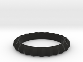 Geometric pattern ring(Japan 10,USA 5.5,Britain K) in Black Natural Versatile Plastic