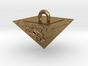 Millennium Puzzle Charm - Yu-gi-oh! in Polished Gold Steel