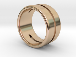Back to basic collection - Size 6 US in 14k Rose Gold Plated Brass
