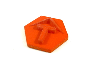 Turn Token, Star Fleet Battles in Orange Processed Versatile Plastic