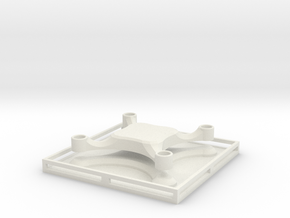 MicroQuad frame mold in White Natural Versatile Plastic