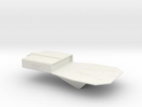 Station Platform in White Natural Versatile Plastic