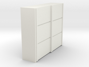 A 016 sliding closet Schiebeschrank 1:87 in White Strong & Flexible