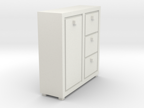 A 021 cabinet Schrank 1:87 in White Strong & Flexible