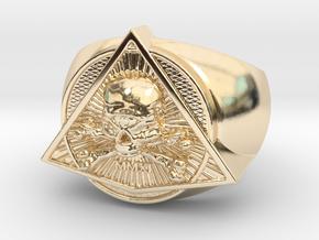 Saint Vitus Ring Size 9 in 14K Yellow Gold