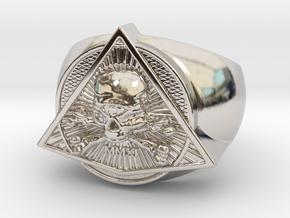 Saint Vitus Ring Size 9 in Rhodium Plated Brass