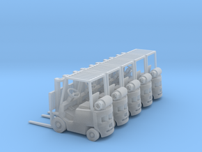 Yale Forklift (N - 1:160) 5X in Smoothest Fine Detail Plastic