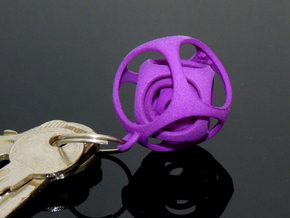 Gyro the Cube (XS) (Ring + Smooth) in Purple Strong & Flexible Polished