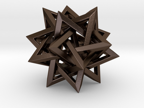 Five Tetrahedra in Polished Bronze Steel: Medium