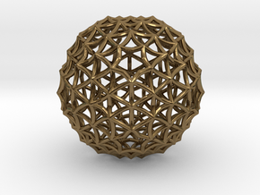 Fractal Geom Sphere in Polished Bronze