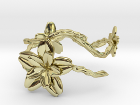 Flower Bracelet in 18k Gold Plated Brass