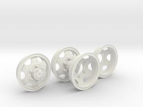1-6 GMC Rims 750x20 in White Strong & Flexible