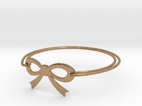 Bow Bracelet in Polished Brass
