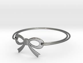 Bow Bracelet in Fine Detail Polished Silver