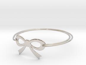 Bow Bracelet in Rhodium Plated Brass
