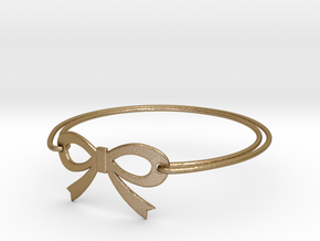 Bow Bracelet in Polished Gold Steel