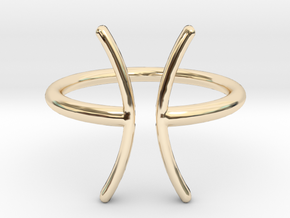 Pisces in 14K Yellow Gold