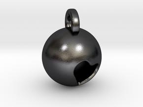 Minimalist Pluto Pendant in Polished Grey Steel