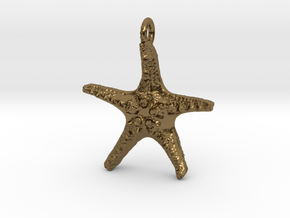 Starfish Pendant 1 - small in Polished Bronze