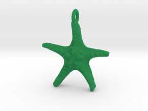 Starfish Pendant 1 - small in Green Processed Versatile Plastic