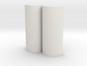 18650 Sled For 26650 Box mod  in White Natural Versatile Plastic