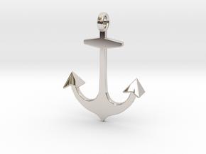 Anchor necklace/pendant...customize it! in Platinum