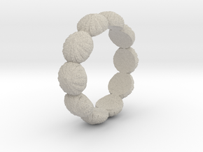 Urchin Ring 1 - US-Size 7 (17.35 mm) in Natural Sandstone