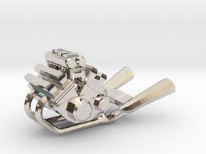 Yamaha Vmax engine keychain in Platinum