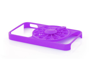 Rotary Phone Case for iPhone 4 / 4s in Purple Processed Versatile Plastic