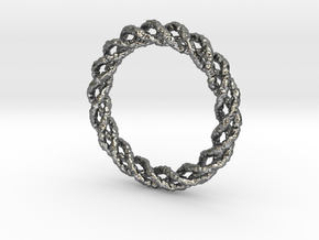 Twisted Single Strand Ring No.1 in Premium Silver
