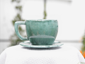 Carnivorous Coffee cup in Gloss Oribe Green Porcelain