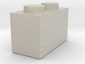 1x2 Lego Brick in Natural Sandstone