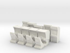 Arcade Machine Pack 5 Stand Up, 4 Driving in White Natural Versatile Plastic