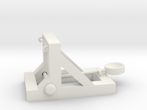 Rubber Band Catapult in White Natural Versatile Plastic