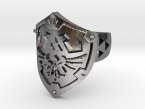 Hylian Shield  in Polished Silver: 10 / 61.5