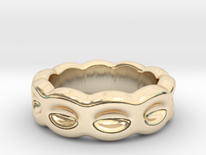 Funny Ring 19 - Italian Size 19 in 14k Gold Plated Brass