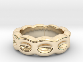 Funny Ring 23 - Italian Size 23 in 14k Gold Plated Brass