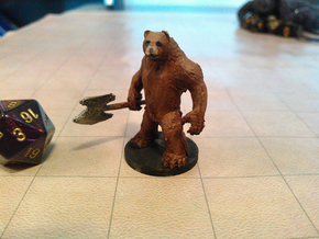Werebear in Smooth Fine Detail Plastic