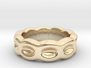 Funny Ring 29 - Italian Size 29 in 14k Gold Plated Brass
