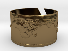 Round The World Bracelet in Polished Bronze