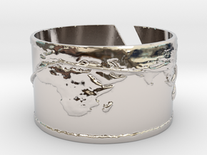 Round The World Bracelet in Rhodium Plated Brass