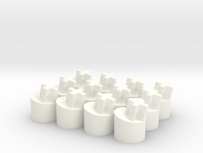 Apple II Keyboard - ALPS Short Stem 12° Adapter (s in White Processed Versatile Plastic