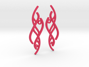 S-Curve Earrings in Pink Processed Versatile Plastic