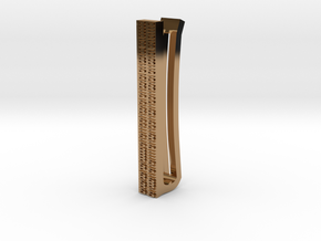 Binary Tie Bar 4cm in Polished Brass