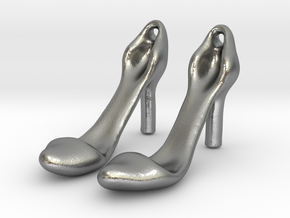 Classic Heels Earrings No. 1 - Size 1 in Natural Silver
