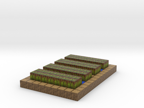 Minecraft village farm plant in Full Color Sandstone