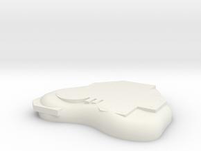 Hutt Base Asteroid in White Natural Versatile Plastic
