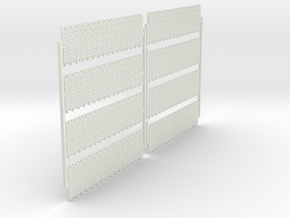 A-nori-bricks-narrow-tall64-sheet-x8-1a in White Natural Versatile Plastic
