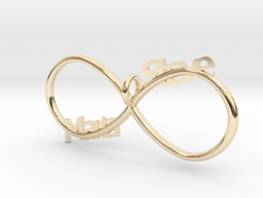 Infinity (Personalize) in 14K Yellow Gold
